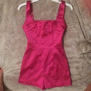 Bebe hot pink jumpsuit